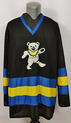 VTG Grateful Dead Dancing Bear Hockey Jersey 90's Shirt Mesh Deadhead Band Music