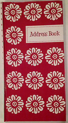 NEW Hardcover Address Book Red FREE Postage