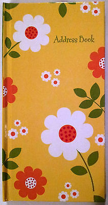 NEW Hardcover Address Book Yellow FREE Postage