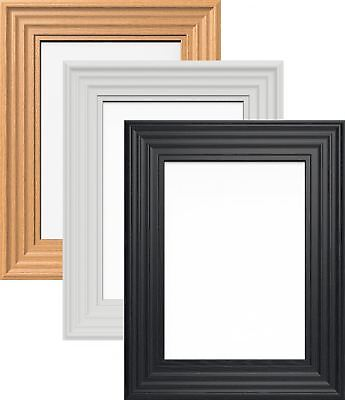 Wood Finish Photo Picture Poster Frame Large Multiple Sizes 3 Colours