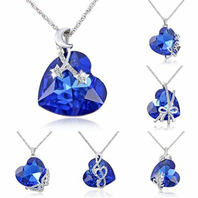 1PC Charm Crystal Rhinestone Mom Love Heart Pendant Necklace Mother's Day Gift
