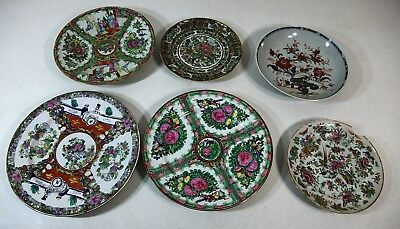 6 antique or vintage Chinese plates