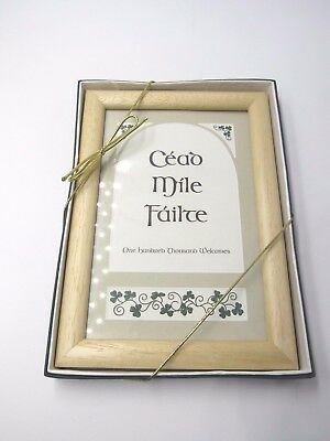 Irish Blessing Message Framed New in Gift Box  Cead Mile Failte