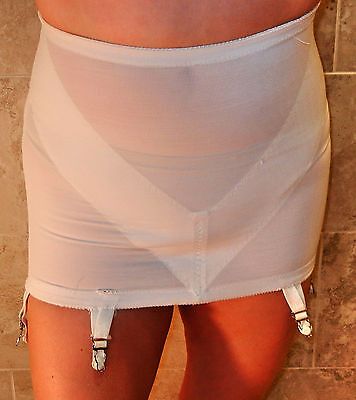 Sexy!!! Adonna Vintage Ivory Open Bottom Girdle With Garters M L Evc