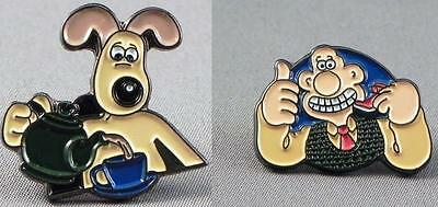 Wallace and Gromit pin  badge. Sold together or on their own. Cartoon characters