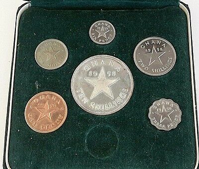 1958 Ghana Proof Set 6 Piece Set
