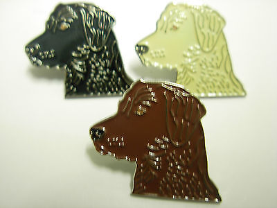 Labrador head pin badge. Golden, Black and Chocolate labs. Retriever badges