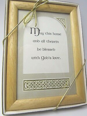 Irish Blessing Message Framed New in Gift Box  May This Home be Blessed
