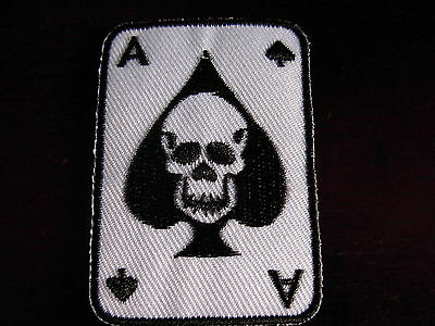 Ace of spades Skull Iron on patch. New design. Bikers patch