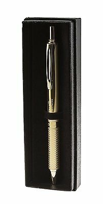 Pentel Energel Alloy Retractable Gel Pen Medium Point 0.7 Mm Gold in Gift Box