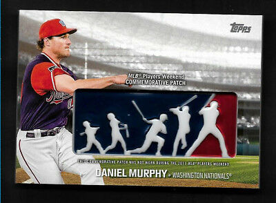 e3ad73ab618 2018 Topps DANIEL MURPHY MLB Players Weekend Commemorative Patch Nationals