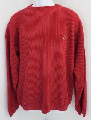 Vintage Tommy Hilfiger Large Knit Sweater Lion Crest Logo Crew Neck Thick Heavy