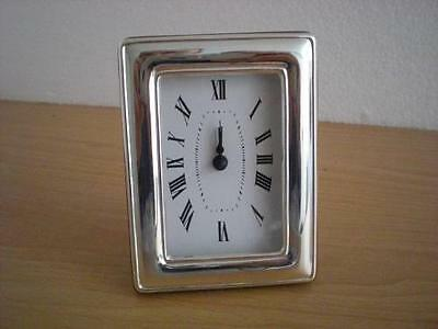 SOLID STERLING SILVER TABLE ALARM CLOCK 6×9 *1020 GB new