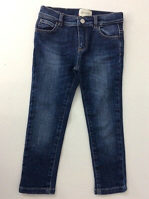 Gucci Boys Skinny Jeans, Size Age 36 Months, 3 Years, Denim Blue, Immaculate