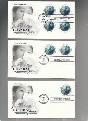 Us Fdc First Day Covers  Global Forever  2013  Lot Set Of 3  Artcraft