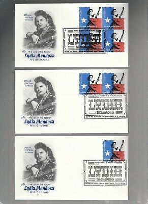 Us Fdc First Day Covers Lydia Mendoza  2013  Lot Set Of 3  Artcraft