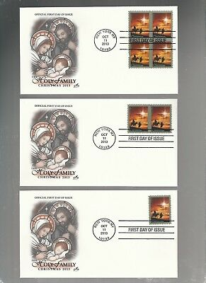 Us Fdc First Day Covers Christmas  2013  Lot Set Of 3  Artcraft