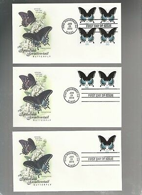 Us Fdc First Day Covers 66 Cents Butterfly  2013  Lot Set Of 3  Artcraft