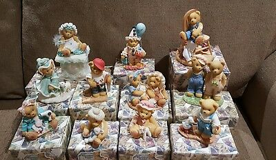 11 Enesco Cherished Teddies  1998-1999 In Original Boxes