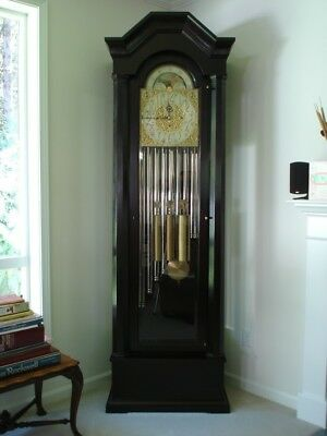 Antique 1916 Herschede Grandfather Clock 9 Tubes 3 chimes w/ Provenance