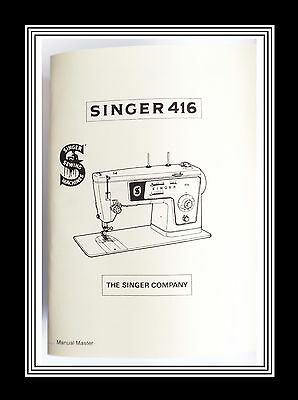 Extended SINGER Model 416 sewing machine instruction Manual Booklet No Machine