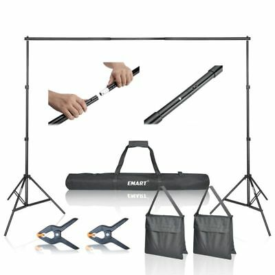Step and Repeat 10' Banner Stand Adjustable TelescopicTrade Show Backdrop w/Case