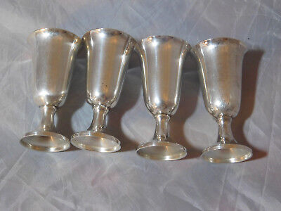 SET of 4 WEBB STERLING SILVER CORDIALS / SHOT GLASSES  NOT WEIGHTED #20