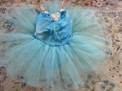 Ballet  blue tutu costume with hair accessory