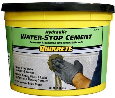 Quikrete 10 lb. Hydraulic Water-Stop Cement