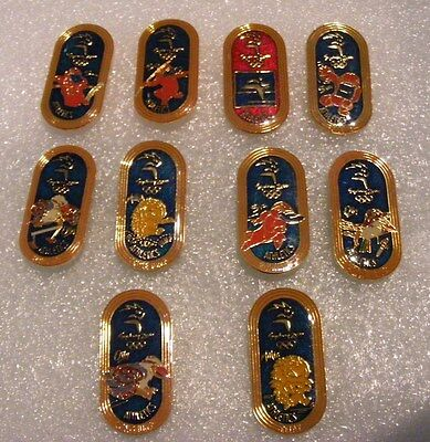Olympic   Pins   11  Sports   With  Mascots  Gold