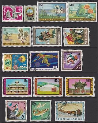 Mongolia 1961-1991 Collection most MNH / some CTO 60+ Stamps (5 Scans) High CV!!