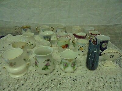 Vintage Lot of 20 Porcelain China Toothpick Holders Germany USA Taiwan Floral +