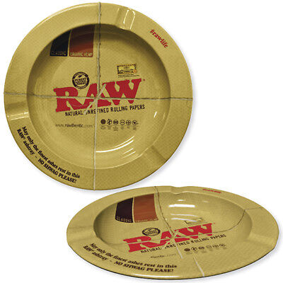 "5.5"" Round Metal Ashtray by Raw Natural Unrefined Rolling Papers"
