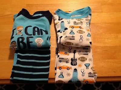 Just One You Toddler Boys 4pc I Can Do Anything Long Sleeve Cotton Pajamas 2T