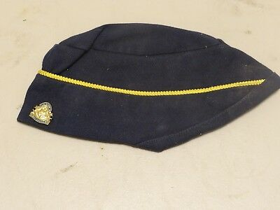 Vintage Boy Scout BSA Cub Scout Blue Den Mother Hat Cap Womens Size Small w/ Pin