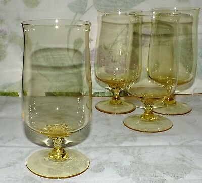 LENOX EXPRESSION GOLD MIST ICED TEA GOBLET ( 4 available/ price for one) EXC