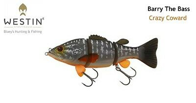 WESTIN Barry the Bass 59g sinking swimbait 15cm Cod Lure(HL/SB); Crazy Coward