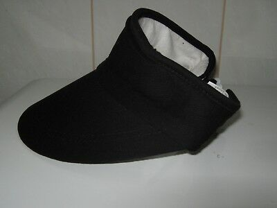 Sun Visor Black Unisex Cotton Adjustable One Size Fits All. Buy now onlly $2.99