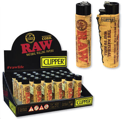 Cork Clipper Lighter by Raw Natural Unrefined Rolling Papers Sold Individually!