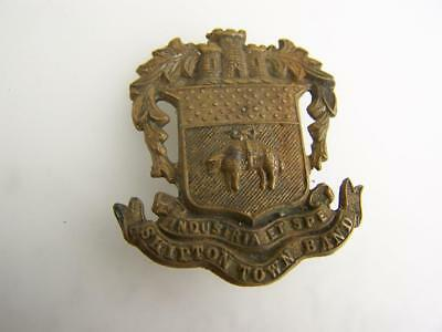 Vintage c1900 metal pin badge Skipton Town Band West Riding Yorkshire       3206