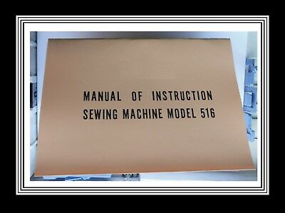 JANOME NEW HOME Model 516 sewing machine instructions Manual Booklet
