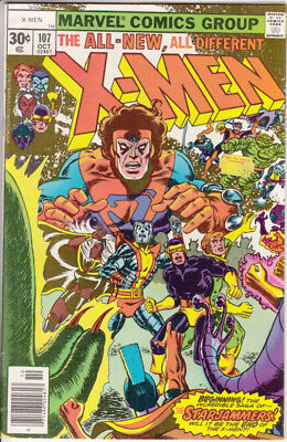 Marvel X-Men, #107, 1977, 1st Astra, Gladiator and the Starjammers, Cockrum