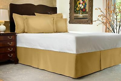 Navy Solid Bed Skirt Select Drop Length All US Size 1000 TC Egyptian Cotton