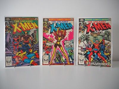 Marvel - The Uncanny X-Men Vol.1 #155 [5.5] #156 [5.5] #157 [5.5] Job Lot Bundle