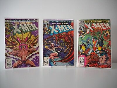 Marvel - The Uncanny X-Men Vol.1 #162 [4.0] #163 [3.0] #166 [3.5] Job Lot Bundle