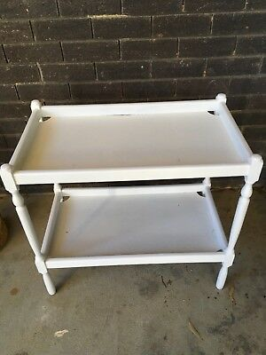 TEA TROLLEY, painted white