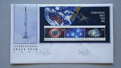 International Space Year 1992 Australia Post FDC First Day Cover