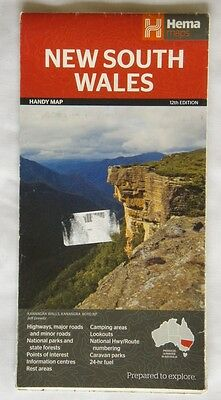 New South Wales Handy Map Hema Maps 12th Edition 2013 Map (Map2)