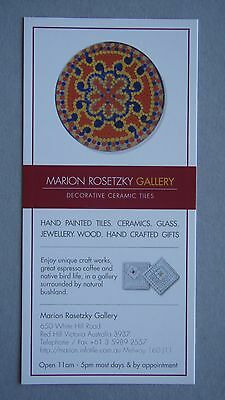 Marion Rosetzky Gallery Decorative Ceramic Tiles Red Hill Brochure
