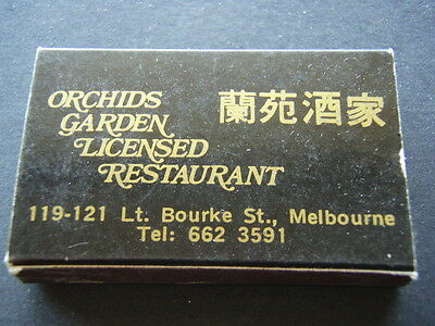 Golden Orchids Malaysian Restaurant Lt Bourke St Melbourne - Matchbox